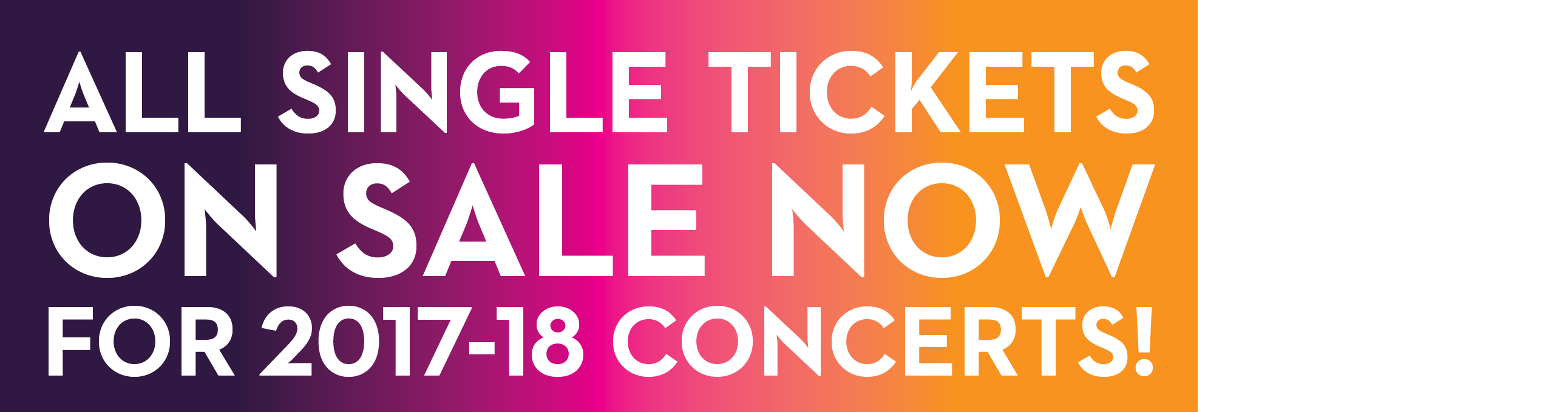 Single Tickets On Sale Day 2017